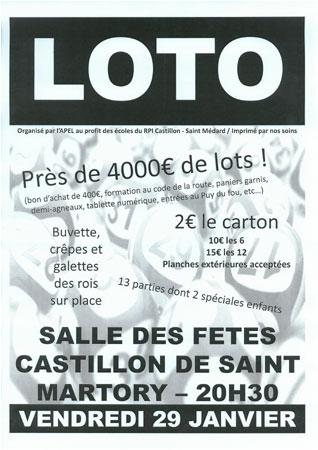 Castillon De Saint-martory : Grand Loto