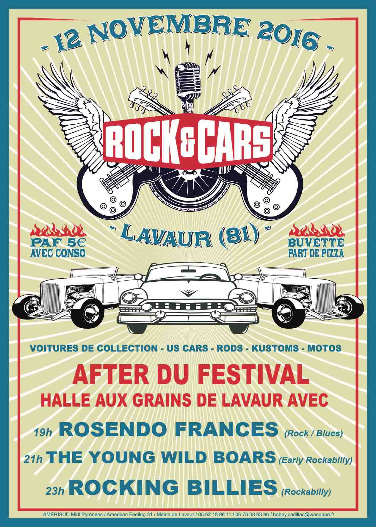 After Du Festival Rock'and'cars 2016 � La Halle Aux Grains De Lavaur (81)