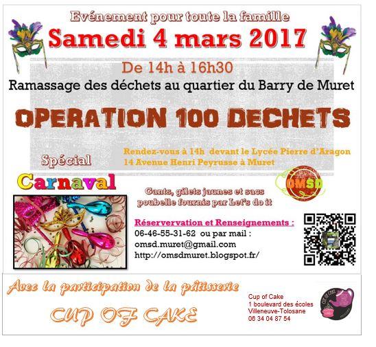 Opération 100 Déchets Spécial Carnaval