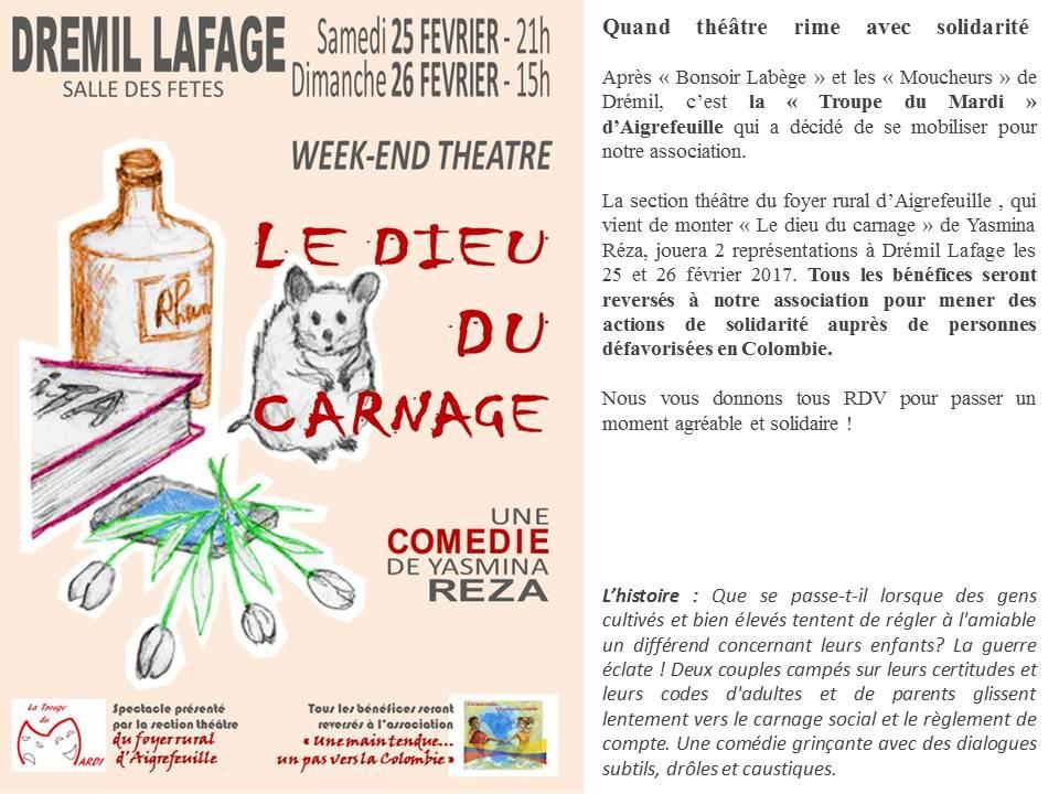 Weekend Théâtre, « Le Dieu Du Carnage » De Yasmina Réza