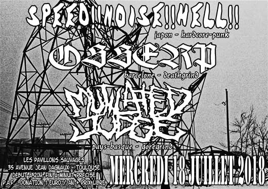 [toulouse - 18-07-2018] Speed-noise-hell + Osserp + Mutilated Judge