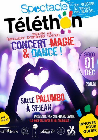 Spectacle Téléthon : Concert, Magie, Danse Bollywood