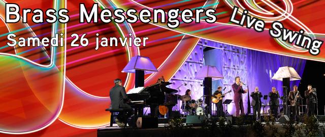Soirée Live Swing Avec L'orchestre Brass Messengers Et Son Chanteur Gead Mulheran