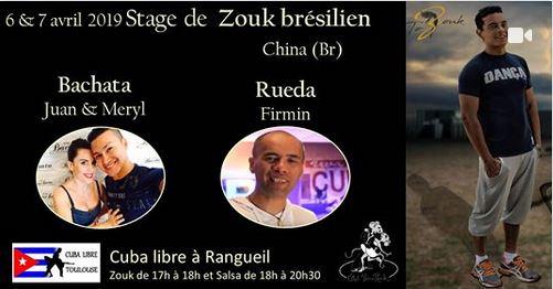 """Stage Et Tea Party """"zouk Brésilien, Bachata, Rueda"""", Les 6 Et 7 Avril 2019 à Toulouse - Maison De Qu"""