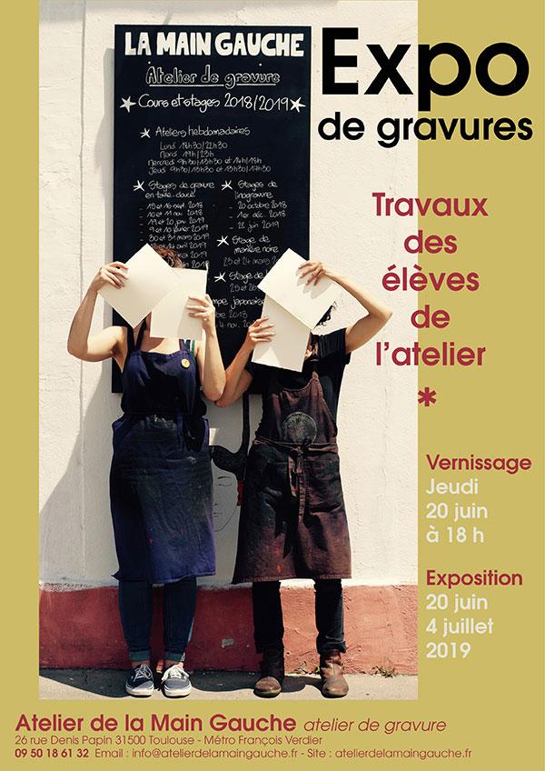 Vernissage Des Travaux D'ateliers De La Main Gauche, Atelier De Gravure