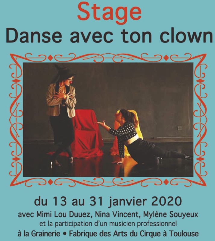 Stage Danse Avec Ton Clown • Formation Professionnelle Clown Et Danse