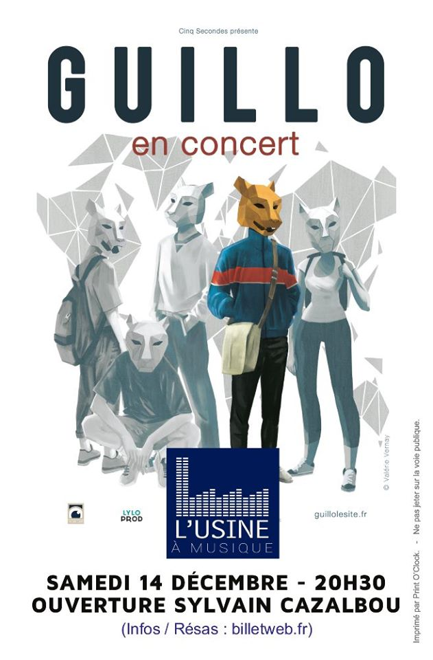 Guillo and Sylvain Cazalbou : Soirée Pop Française and Chanson Fr. !