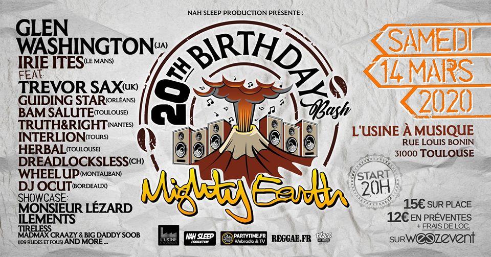 Glen Washington - Mighty Earth 20th Birthday Bash