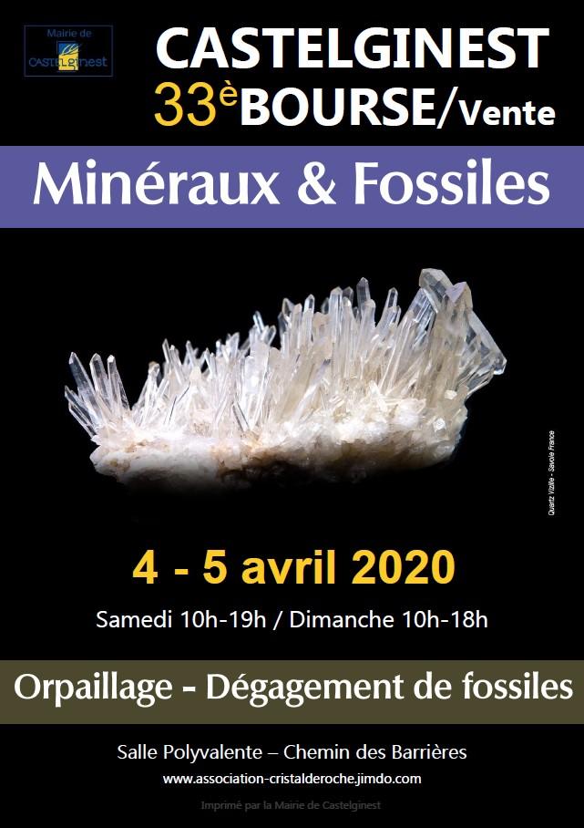33ème Bourse-vente Minéraux - Fossiles, Pierres Du Bien-être à Castelginest (31780)