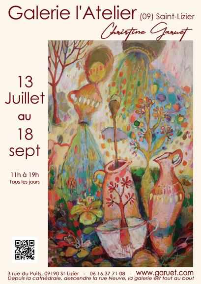 Nouvelle Exposition De Christine Garuet à La Galerie L'atelier